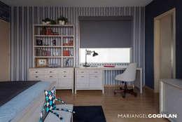 Proyecto Almendros: Estudios y oficinas de estilo moderno por MARIANGEL COGHLAN