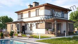 Projekty, klasyczne Domy zaprojektowane przez Art & Brick