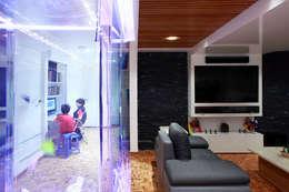 Letrán Valle: Salas multimedia de estilo ecléctico por All Arquitectura