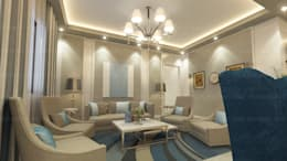 modern Living room by EHAF Consulting Engineers