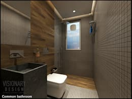 BATHROOM: minimalistic Bathroom by VISIONARY DESIGN
