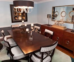 classic Dining room by Lux Design Associates