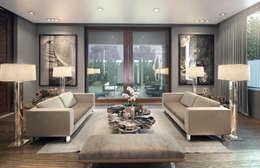 GUERRA RESIDENCE : Salas de estilo minimalista por VA STUDIO