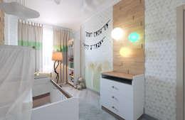 Детская: Детские комнаты в . Автор – Студия дизайна интерьера 'Золотое сечение'