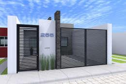 FACHADA DIA: Casas de estilo moderno por Residenza by Diego Bibbiani