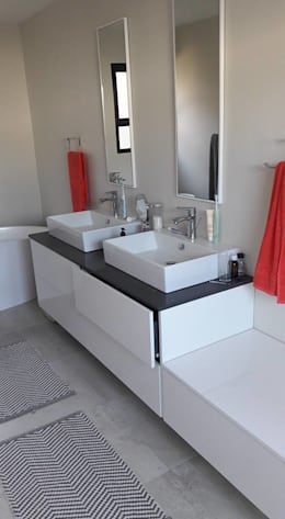 Diepenbrook residence renovation in Woodmead.: modern Bathroom by Big A Contractors