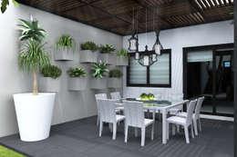 TERRAZA DIA: Terrazas de estilo  por Residenza by Diego Bibbiani