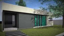 Modelo 3d / Fachada: Casas de estilo moderno por Estudio Pauloni Arquitectura