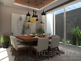 CASA LR 365: Comedores de estilo moderno por Residenza by Diego Bibbiani