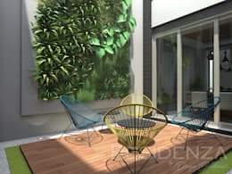 CASA LR 365: Jardines de estilo moderno por Residenza by Diego Bibbiani