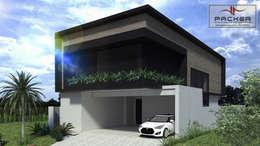 Casas de estilo moderno por PACKER arquitetura e engenharia
