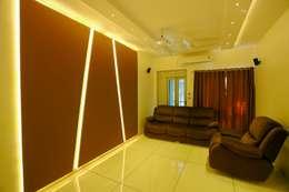 Shah Parivar Bungalow: modern Media room by ZEAL Arch Designs