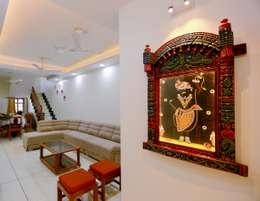 Shah Parivar Bungalow: modern Living room by ZEAL Arch Designs