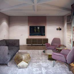 Livings de estilo ecléctico por Tina Gurevich