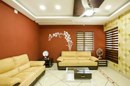A Young & Youthful Design: classic Living room by Premdas Krishna