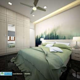 Feel Fresh with Vibrant Design: modern Bedroom by Premdas Krishna
