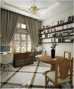 Grand & Striking: classic Living room by Premdas Krishna