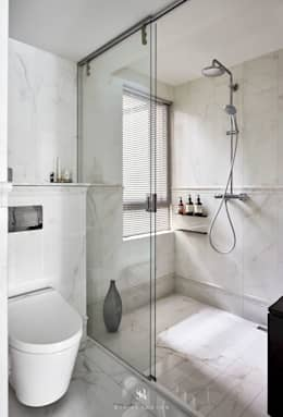 Projekty,  Łazienka zaprojektowane przez 理絲室內設計有限公司 Ris Interior Design Co., Ltd.
