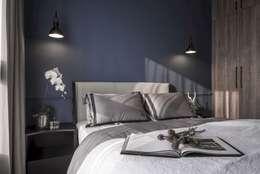 森.光景 Wood-Scape:  臥室 by 理絲室內設計有限公司 Ris Interior Design Co., Ltd.