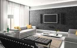 Salas de estar minimalistas por Edilizia Software