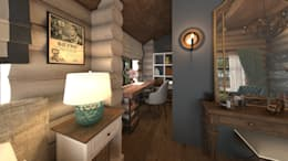 rustic Study/office by atmosvera