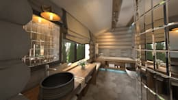 rustic Bathroom by atmosvera