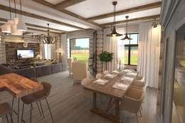 rustic Living room by atmosvera