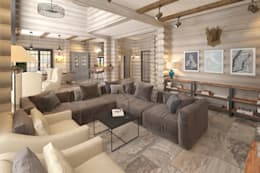 rustic Living room by atmosvera
