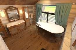 rustic Bathroom by atmosvera