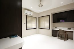asian Study/office by studio 7 designs