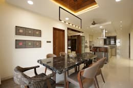 asian Dining room by studio 7 designs