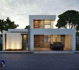 Casas de estilo moderno por Alan Rangel Arquitecto