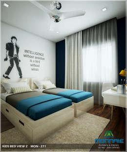 Bright and Energetic Design: classic Bedroom by Premdas Krishna