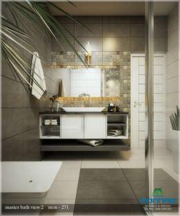 Bright and Energetic Design: classic Bathroom by Premdas Krishna