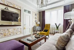 Projekty,  Salon zaprojektowane przez N-HOME   Ната Хатисашвили