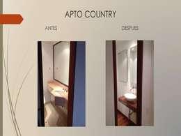 Baño social:  de estilo  por Erick Becerra Arquitecto