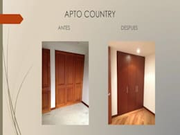 Closets en madera:  de estilo  por Erick Becerra Arquitecto