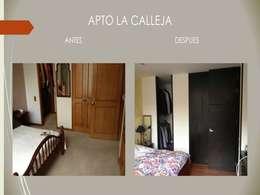 Habitacion Principal:  de estilo  por Erick Becerra Arquitecto