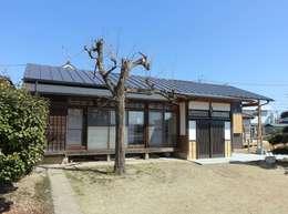 2階建てから平屋へと大幅に減築: 木の家設計室 アトリエ椿が手掛けた家です。