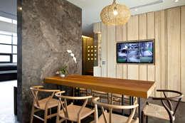 Comedores de estilo minimalista por Zendo 深度空間設計