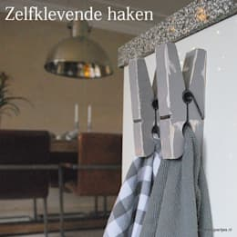 Keuken haken: landelijke Keuken door Knijpertjes.nl