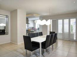 House Morningside: minimalistic Dining room by Principia Design