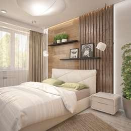 Dormitorios de estilo minimalista de Interior designers Pavel and Svetlana Alekseeva