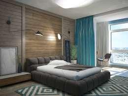 غرفة نوم تنفيذ Interior designers Pavel and Svetlana Alekseeva