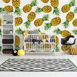 Ananasowe love - pyszne na ścianie: styl , w kategorii Pokój dziecięcy zaprojektowany przez Viewgo