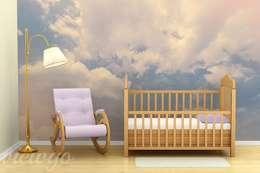 Magia wśród pierzastych chmur: styl , w kategorii Pokój dziecięcy zaprojektowany przez Viewgo