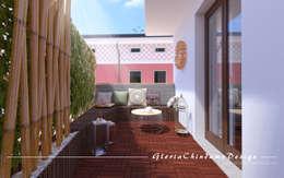 Terrazas de estilo  por Gloria Chindamo Ingegnere Architetto
