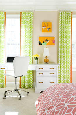 Next Generation - Tween's Room Desk: eclectic Bedroom by Lorna Gross Interior Design
