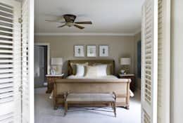 tropical Bedroom by Lorna Gross Interior Design