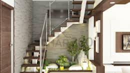 Staircase Design:   by Ghar360